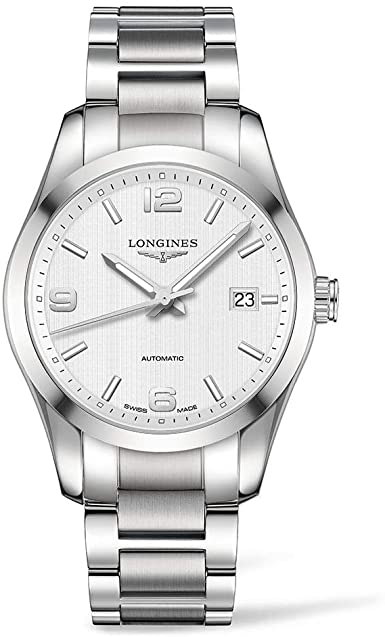 Amazon.com: Longines Conquest White Dial Stainless Steel Watch .