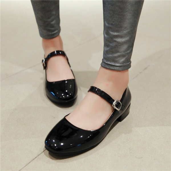 Shoes Women Mary Jane Ladies Shoes Flats Fall Buckle School Shoes .