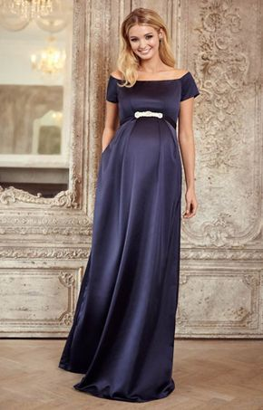 Aria Maternity Gown Midnight Blue - Maternity Wedding Dresses .