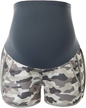 Maacie Maternity Shorts Full Panel Workout Shorts Double Layer .