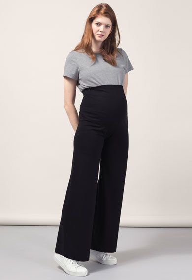 Once-on-never-off wide pants, Black M   Wide pants, Maternity .