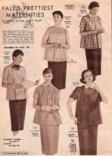 Vintage Maternity Clothes History 1920s-1960s | Vintage maternity .