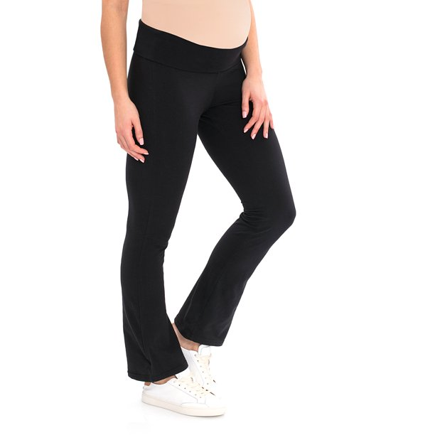 Great Expectations - Maternity Yoga Pants with Roll Down Waistband .