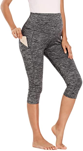 Ziola Women's Maternity Yoga Pants Over The Belly Workout Stretchy .