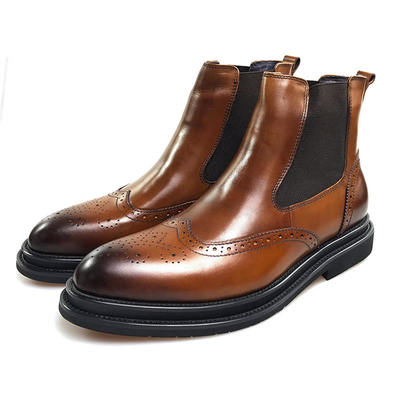 Mens Leather Chelsea Boots | Mens Vintage Leather Boo