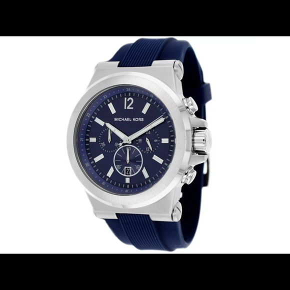 Michael Kors Accessories | Reserved Silver Blue Dylan Watch | Poshma