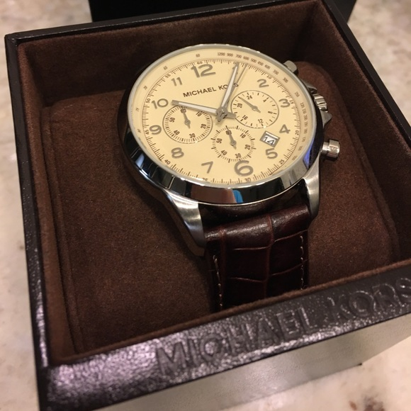Michael Kors Accessories | Mens Leather Band Watch | Poshma