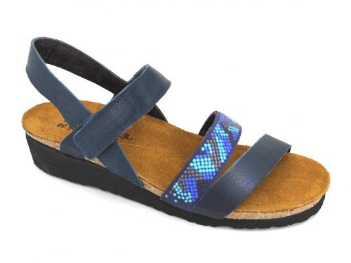 Naot Gwyneth Women's Sandal Ink Blue | Sandals, Leather material .