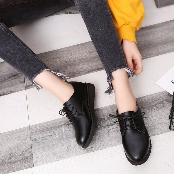 Flats British Style Oxford Shoes Women Spring Soft Leather Oxfords .
