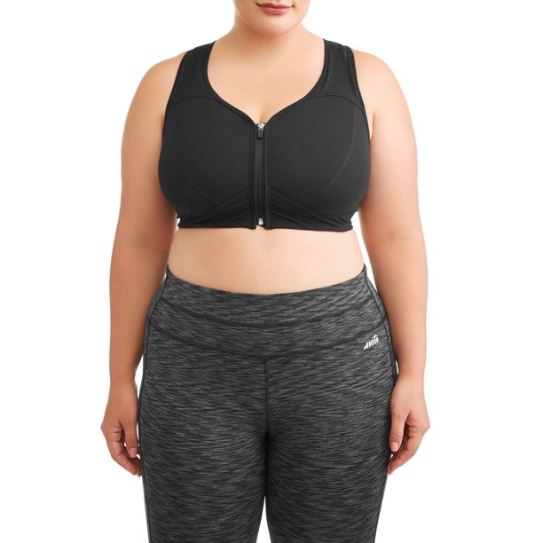 Athletic Works - Athletic Works Women's Plus Size Zip Front Bra .