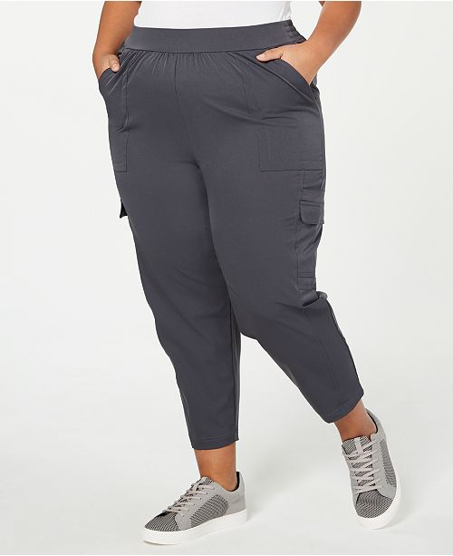 Ideology Plus Size Recycled Woven Cargo Pants, Created for .