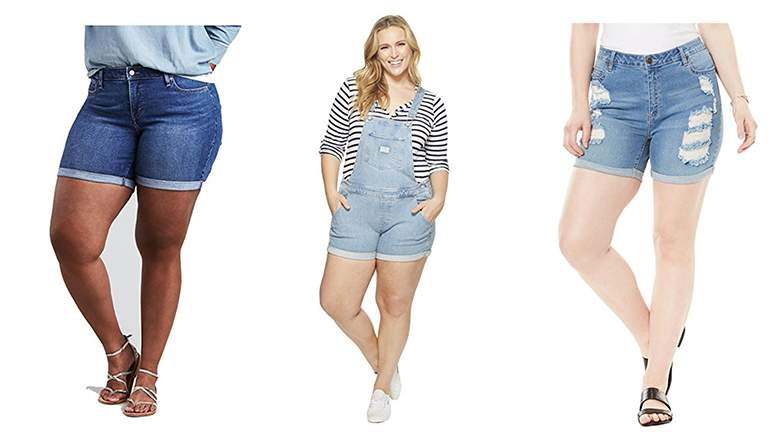 Best Plus Size Denim Shorts: 12 Fab Finds for Summer 2018   Heavy.c