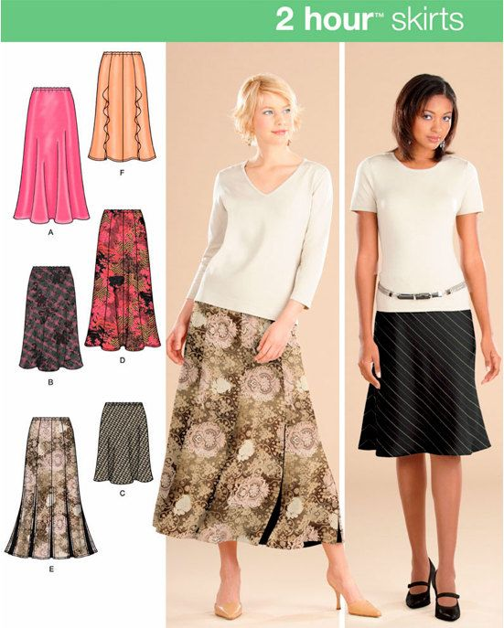 PLUS SIZE SKIRT Sewing Pattern 2 Hour Easy Skirts Sizes | Skirt .