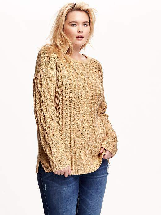 Chilly? Cozy Up in These 11 Must Have Plus Size Chunky Knit Sweate