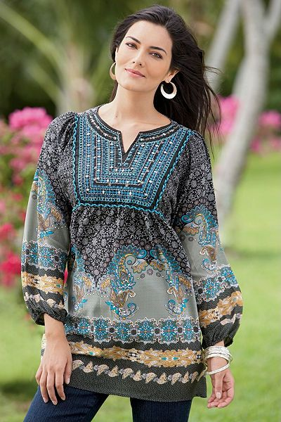 Plus Size Tunic Blouses best outfits - Page 3 of 5 - curvyoutfits.c