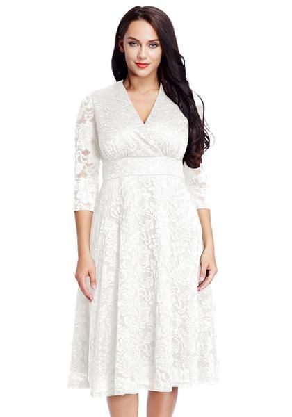 Been looking for the perfect white dress? This stunning plus size .