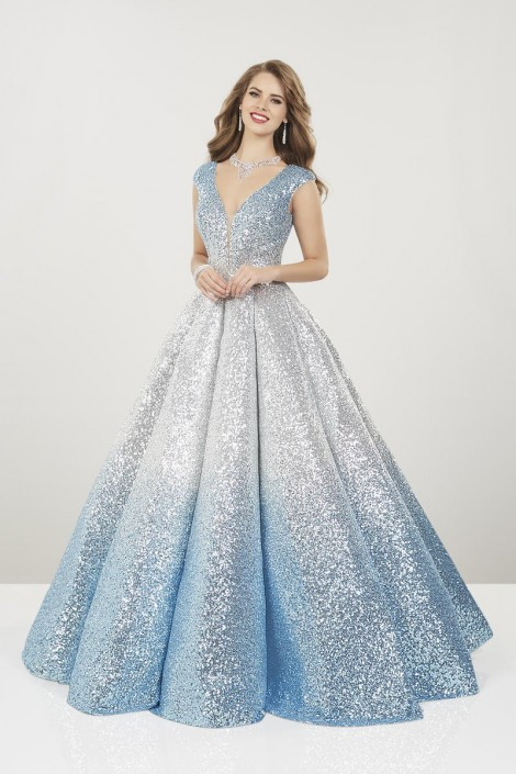 Panoply 14961 Ombre Sequin Princess Prom Gown: French Novel
