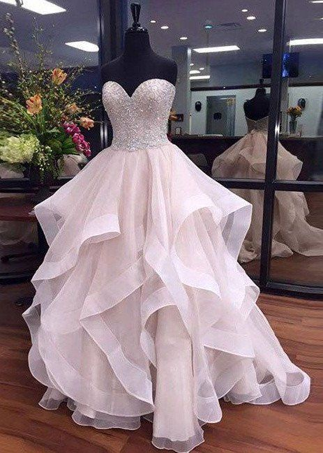 Sweetheart Prom Dress, Long Princess Prom Dresses, Party Gown .