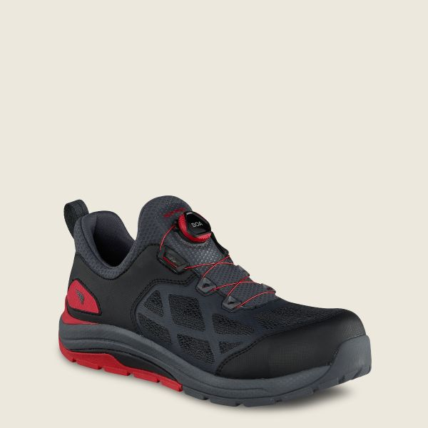 Men's CoolTech™ Athletics Safety Toe Work Shoe Charcoal/Red 6343 .