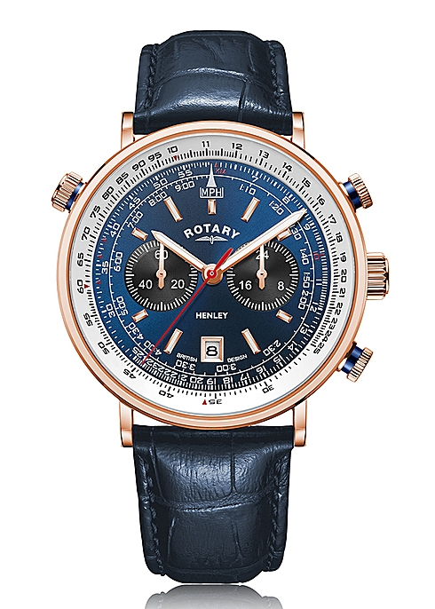 Rotary Watches Rotary henley rose gold pvd watch - Harvey Nicho