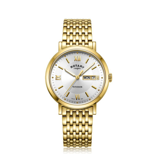 Rotary Watches Rotary Mens Gold Pvd Bracelet Windsor   ModeSe
