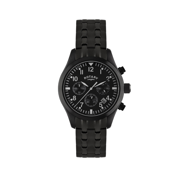 Rotary Watches Rotary Mens Black IP Watch GB02681/19  Jewellers A
