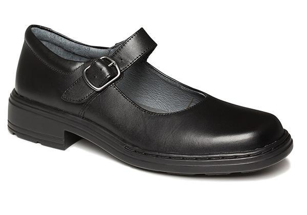 Clarks Intrigue Senior Girls Black Leather School Shoes Mary Janes .