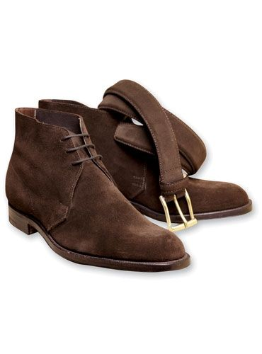 The Chukka in Dark Brown Suede   Mens suede boots, Chukka boots .