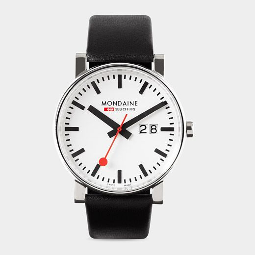 Big Case Swiss Railway Watch from the MoMA store In the 1940s .