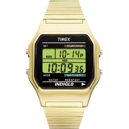 Timex - Timex Men's Classic Digital Stainless Steel Gold-Tone .