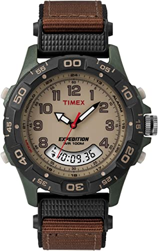 Amazon.com: Timex Men's T45181 Expedition Resin Combo Brown/Green .