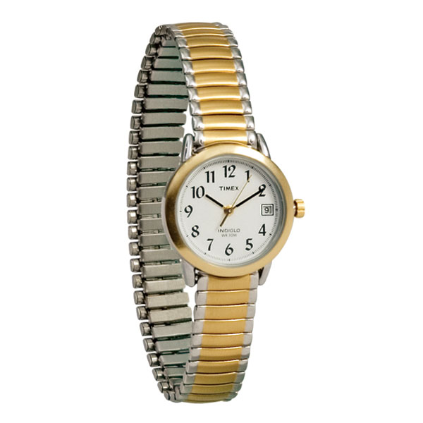 Timex Indiglo Watch Ladies Gold with Expansion Ba