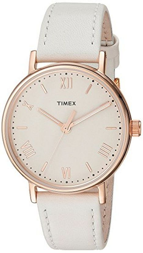 Women's Timex Southview 37 White Leather Band Watch TW2R283