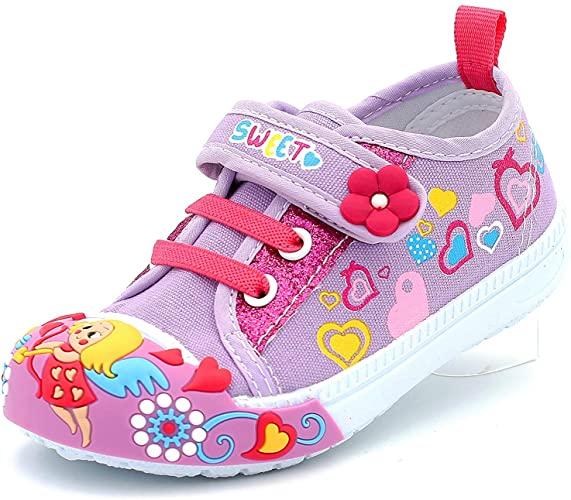 Amazon.com | Canvas Sneakers Shoes for Toddler Girls Infant Baby .