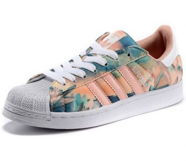 shoes, adidas, cool, floral, trendy, sneakers, summer, spring .