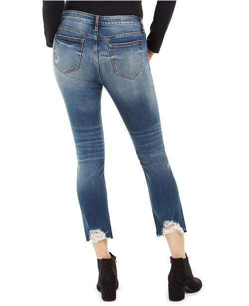 Vigoss Jeans Ripped Cropped Jeans & Reviews - Jeans - Juniors - Macy