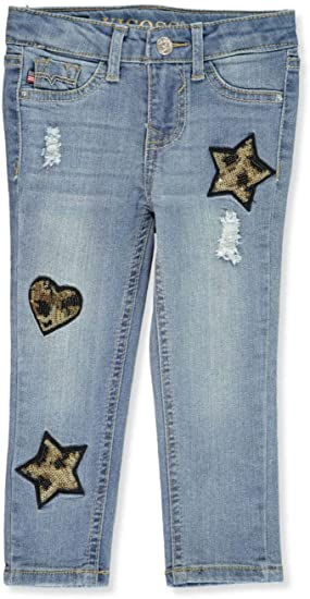 Amazon.com: VIGOSS Toddler Marbled Sequin Ankle Skinny Jeans .