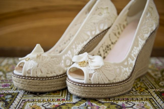 Natural Relaxed Rustic Wedding | Bridal shoes wedges, Wedge .
