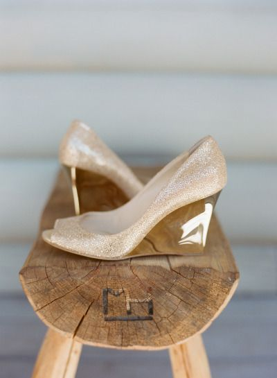 40 Chic Shoes That Won't Sink In The Grass | Wedge wedding shoes .