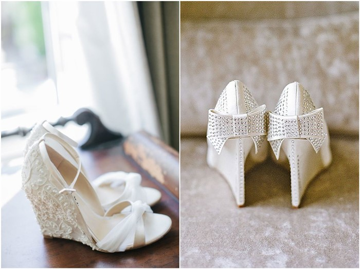 16 White Wedge Wedding Shoes with Brilliant Details - ChicWe