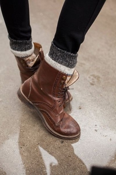 shoes, boots, brown, lace up, socks, rock, oxfords, flats, brogue .