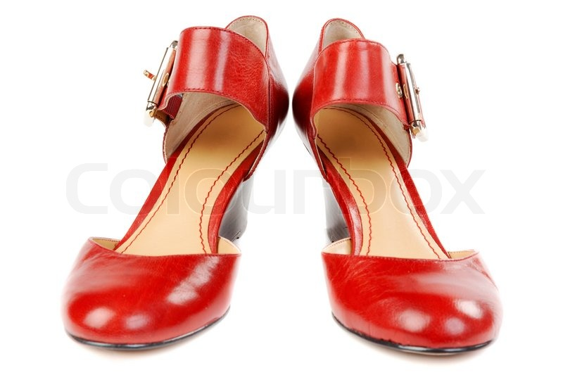 Fashionable women's red shoes | Stock image | Colourb
