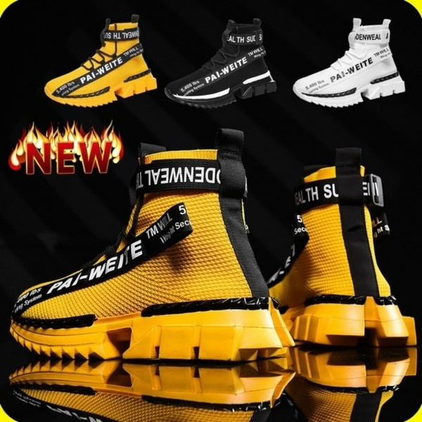 New Men's Fashion Sneakers Breathable Shoes Comfortable Sneakers .